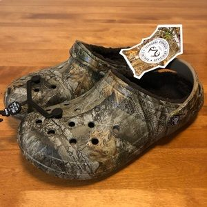 NEW Crocs Clog Realtree Camo Fleece Lined Men's 9